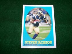 STEVEN JACKSON ST. LOUIS RAMS RB 2007 TOPPS INSERT card #12 of 22 nr mint $1.00