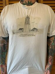 Vintage Point Judith Lighthouse Narragansett RI T Shirt Unisex XL Rhode Island $25.00