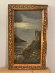 Estate Found Antique Oil Painting On Board Panel $199.00