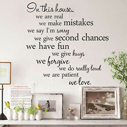 Wall Stickers Living Room Background Wall Decoration Custom Home Decal English $7.14