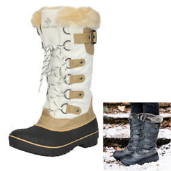 Womens Insulated Waterproof Winter Snow Boots Fur Lined Warm Outdoor Ski Boots $35.14