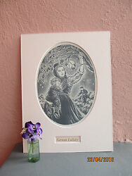 vintage illustration of German mother and baby 1941 $22.50