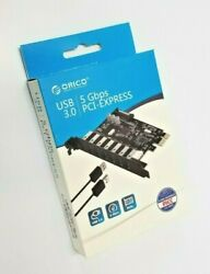 ORICO 7 Port PCI E to USB 3.0 HUB PCI Express Expansion Card Adapter for Win7 PC $22.00