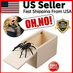 Wooden Prank Spider Scare Box Hidden in Case Trick Play Joke Scarebox Gag Toy $5.39