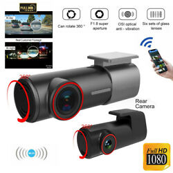 WiFi 1080P Car Camera Dual Dash Cam Rear and Front Night Vision 170 Wide Angle $61.96