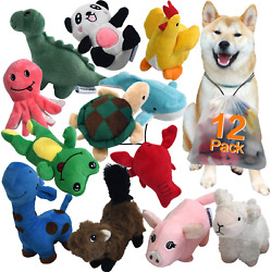 12 Dog Toys Squeaky Plush Dog Toy Pack for Puppies Small Stuffed Chew Toys $25.15