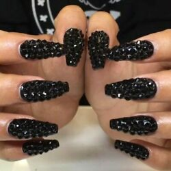 AUTHENTIC Swarovski Crystals Jet Black for NAILS Crafts Phone Shoes Glasses $4.77