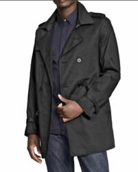 Phillip Lim for Target Mens XXL Trench Pea Coat Black Double Breasted Belted $32.88