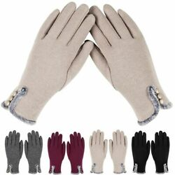 Thermal Windproof Fleece Lined Winter Gloves Touch Screen Phone Texting Women $7.51