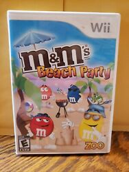 M amp; Ms Beach Party for WII Game With Manual Very Good Condition $7.95