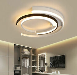 52W Indoor Modern LED Round Acrylic Ceiling Lamp Warm Light Personality Bedroom $69.00