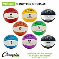 Champion Sports MB14 Exercise Medicine Balls 14 15 lbs Leather with No Slip... $39.94