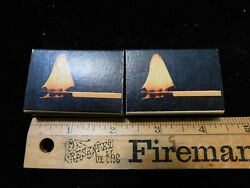 LOT OF 2 VINTAGE BOXES OHIO BLUE TIP MATCHES FLAME ON BOX NEVER USED $11.67