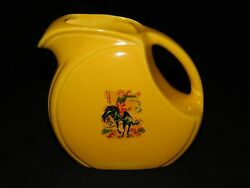 HOMER LAUGHLIN YELLOW RIVIERA JUICE PITCHER $63.74