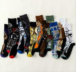 Men Novelty Cartoon Star Wars Fashion Socks Cotton Skateboard Sports Funny Socks $3.37