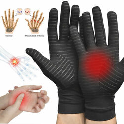 Copper Compression Arthritis Gloves Finger Fit Carpal Tunnel Typing Support Hand $7.91