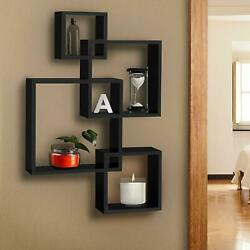 Wooden Modern Storage Rack Wall Mounted Home Floating Shelf Organizer Decor $30.99