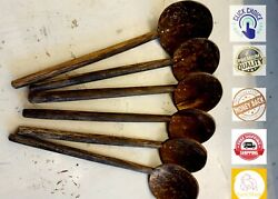 Coconut Shell Spoon Natural Kitchen Food Cooking Eco Friendly Wood Handmade Tool $5.49