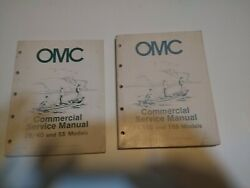 OMC COMMERCIAL SERVICE MANUALs 254055 65100 AND 155 MODELS.