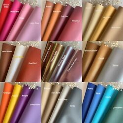 *41 Colors* Vinyl Fabric Faux Leather Auto Upholstery 56quot;Wide Continuous By Yard $9.50