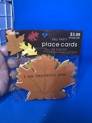 Thanksgiving Fall Party Fall Leaves Place Cards NIP 20 Count $3.00