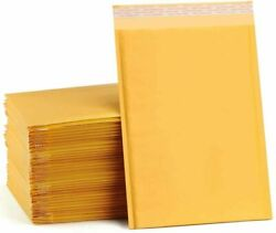 Any Size Kraft Bubble Mailers Shipping Mailing Padded Bags Envelopes Self Seal $25.99