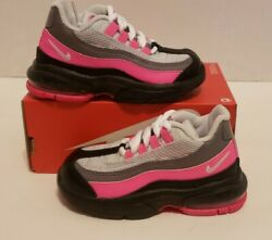 Nike Air Max 95 TD Pink Black Toddler Sz 8c NEW 905462 030 NOLID