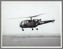 ALOUETTE III HELICOPTER A 253 VINTAGE PHOTO GBP 19.85