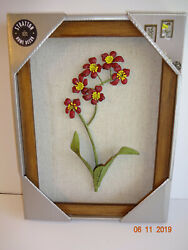 Stratton Home Decor Wall Flowers Framed 9quot;x12quot; Accents Handmade NIB New  $17.99