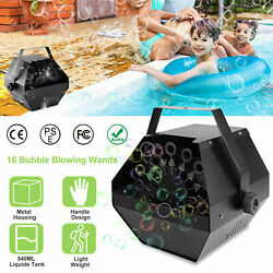 25W Automatic Bubble Machine Maker High Output Auto Blower Party Indoor Stage $18.99