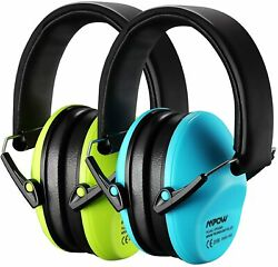 Ear Protection 2Pk NRR Noise Reduction Hearing Protection for Kids Blue amp; Green $18.39