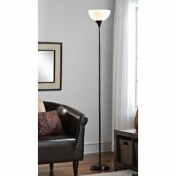 71 Inch Metal Floor Lamp Living Room Light Stand Scoop Shade Read Torchiere 150W $19.99
