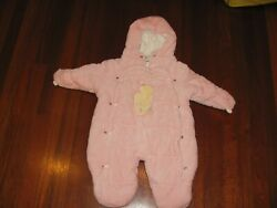 Classic Pooh Baby Winter Snowsuit Warm Fleece 9mo $28.00