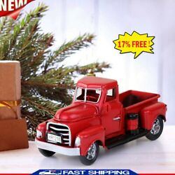Classic Red Pickup Truck Vintage Metal Rustic Christmas Decor Farm House Gifts $10.61
