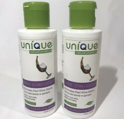 UNIQUE Natural Products No Scent Red Wine Stain Remover 4 oz. Lot of 2 $16.40