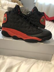 "Nike 2017 Air Jordan Retro 13 XIII ""Bred""Size 10.5BLACK TRUE RED WHITE 414571004"