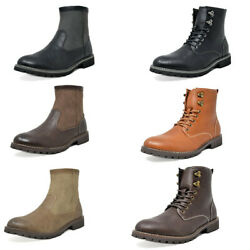 Mens Fashion Ankle Boots Side Zip Chelsea Boots Motorcycle Combat Boots US6.5 15 $18.99