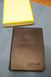 World Atlas for Travelers Leather gold edges PHOENIX Geographic Handbk BOXED #x27;06 $15.99