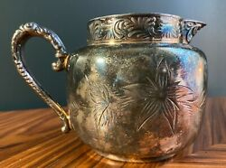 Antique Colonial Silver Co Sterling Silver Floral Small Teapot Pitcher $70.00