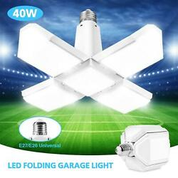 40W E27 LED Garage Light Shop Home Fixture Deformable Lamp Folding Four Leaf US $12.35