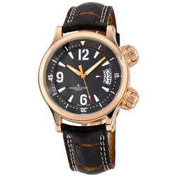 Mens Jaeger LeCoultre Master Compressor 18K Rose Gold Automatic Watch 148.2.60 $10499.00