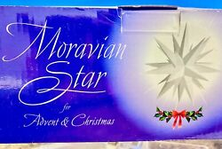 Moravian Star White 21quot; Illuminated Hanging Bethlehem Star Advent amp; Christmas $28.99