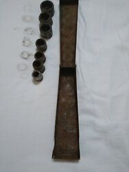 Vintage socket set that was used to work on model A fords $14.00