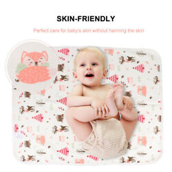 Baby Waterproof Diaper Pad Breathable Cotton Changing Mat Cushion Resuable Liner $9.49