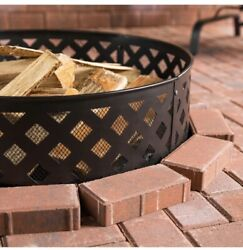 """Fire Pit 🔥 30"""" Inch Containment Ring Steel Outdoor Camping Backyard Decor Black $50.00"""
