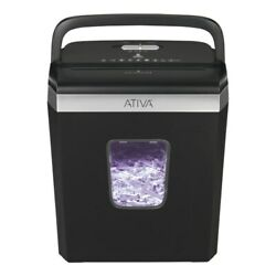 Ativa 6 Sheet Cross Cut Shredder Black A06CC19 $29.99