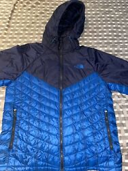 The North Face Thermoball Blue Nylon Lightweight Quilted Hooded Men's Jacket L $80.00