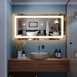 """48quot; x 24"""" LED Bathroom Wall Mirrors with Illuminated Light Makeup Vanity Mirror $209.99"""