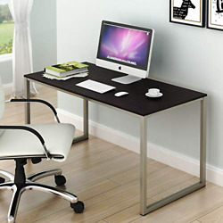 SHW Home Office 48 Inch Computer Desk Silver Espresso $70.41