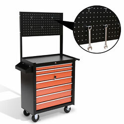 Rolling Tool Chest Cabinet Cart Toolbox Storage Box 7 Drawers Hanging Organizer $39.99